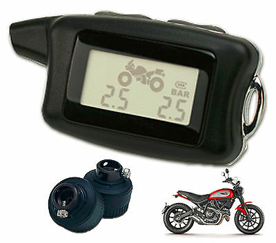 Motorcycle Tire Pressure Monitor System Motorcycle TPMS Universal with 2 sensors