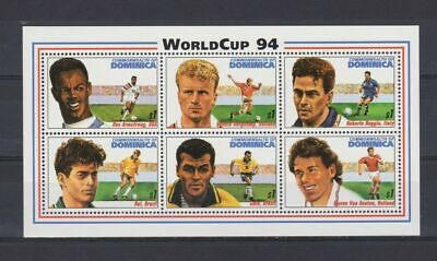 s6665) DOMINICA 1994 MNH** World Cup Football'94 - S/S
