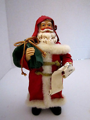 Victorian Santa Claus Clothtique Possible Dreams Checking His List Member Only
