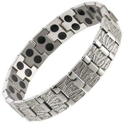 Mens Magnetic Stainless Steel 38 Magnets Bracelet Bio NdFeB Neodymium Therapy