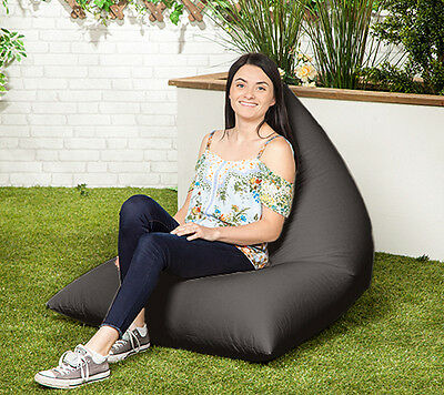 Black Waterproof XXL Garden Bean Bag Gamer Lounger Recliner Gaming Chair Patio