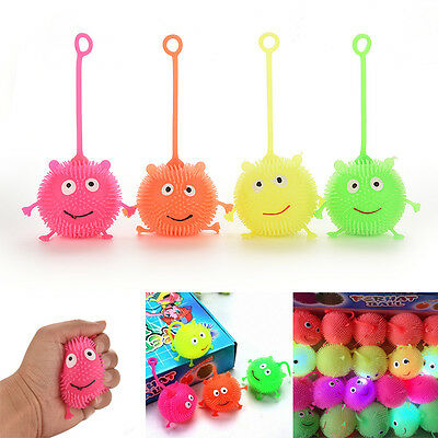 Light Up Balls Smiley Face Ball Spiky Bouncing Ball Soft Rubber Birthday Gift LA
