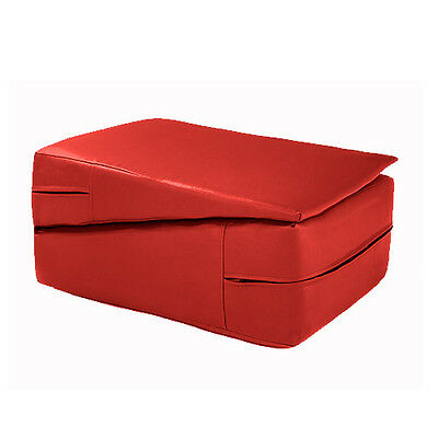 Red Gymnastics Training Wedge Incline Mounting Yoga Block Vault Folding Pilates