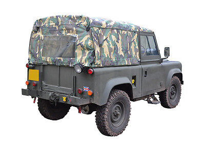 Land Rover Defender 90 Full Hood - Camouflage Camo - New - Exmoor Trim