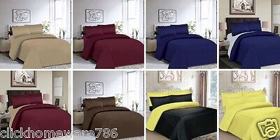 4Pc Bedding Sets With Duvet Cover, Fitted Sheets & Pillowcases Free Postage