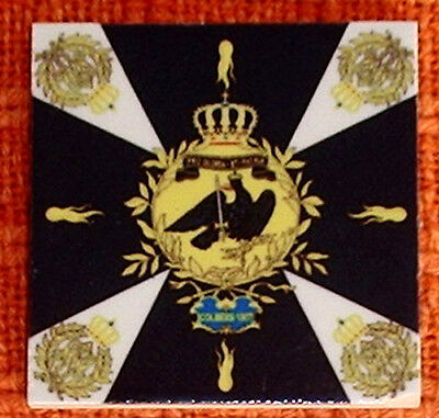 Prussia -Prussian flag Napoleonic wars~Colberg 1807~ FLAG MICRO CERAMIC TILE