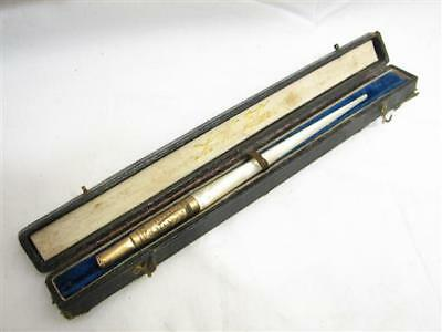 Vintage Faber No. 6 Mother of Pearl Handle Dip Pen w/Case Fountain MOP