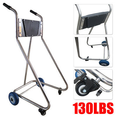 Outboard Motor Cart & Engine Stand Stainess Steel Tube Frame Carrier Cart