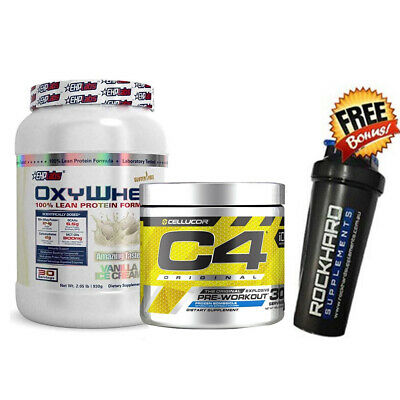 Ehplabs Oxywhey Protein Powder + Cellucor C4 Pre Workout + Free Shaker Ehp Labs