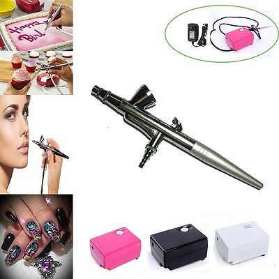 Body Painting Airbrush Makeup Air brush COMPRESSOR KIT for Cake Tattoo Nail Art