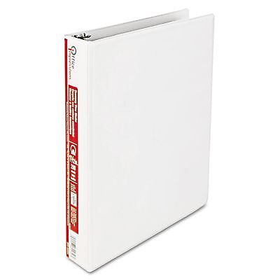 "Office Impressions View Binder, Round Ring, 1.5"" - White NEW"