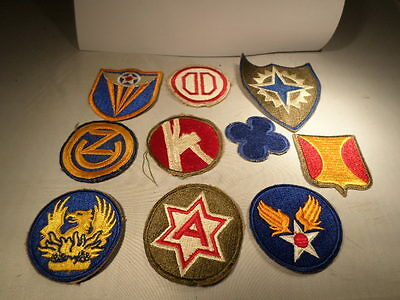 WWII VINTAGE US Army Patch Lot #60