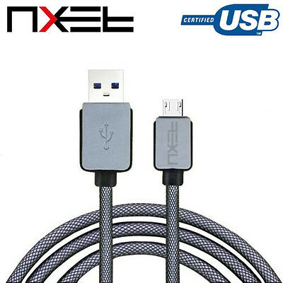 NXET Genuine Nylon Braided USB Data Charger Charging Cable for Samsung Galaxy