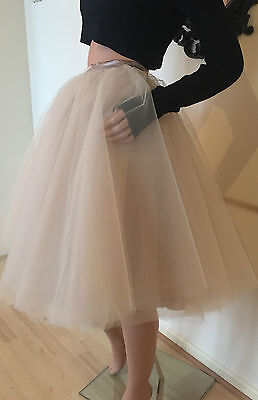 Tulle Skirt Blush Peach Nude Carrie Mesh Adult Tutu Rockabilly Sheer Party dress