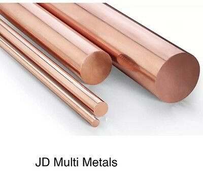 Copper Round Bar Rod - Cheapest around 5mm - 20mm Dia Milling Machine Lathe