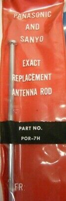 One Only Panasonic Sanyo Por-7H Tv Radio Antenna Aerial Red Sleeved Remains