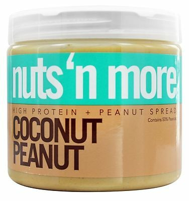 Nuts N More High Protein COCONUT PEANUT BUTTER Spread - 16 oz SHARK TANK