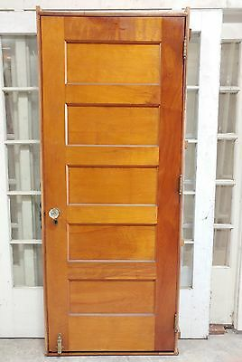 "Antique Shaker 5 Panel Door 30"" Pre-Hung in Jamb Frame Glass Knob- 2 Available"