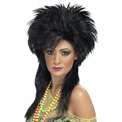 80s Wig Adult Womens for Punk Pop Star Costume Halloween Fancy Dress