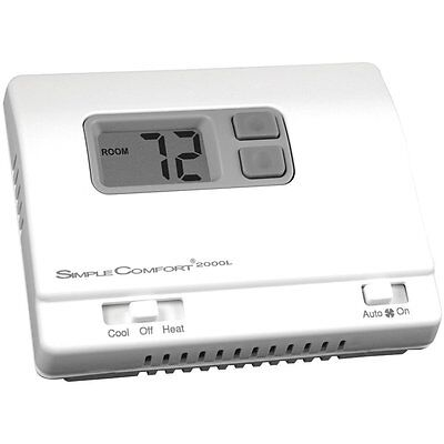 ICM Controls Simple Comfort Non-Programmable Thermostat Backlit Display SC2000L