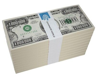 America One Million 1,000,000 Dollar Novelty Money X 1,000 Pieces, Play Currency