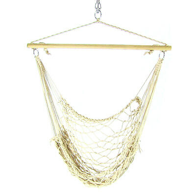 Cotton Rope Hammock Chair w/Spreader Bar or Chair & Stand Combo - Choose Option