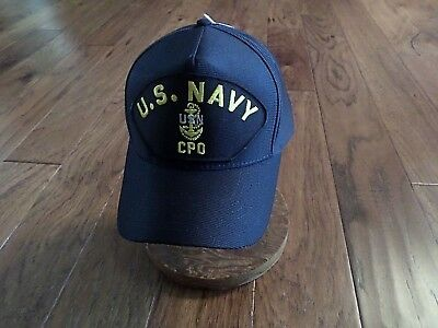 beca3558a U.S NAVY CPO Hat Chief Petty Officer U.s Military Official Ball Cap U.s.a  Made