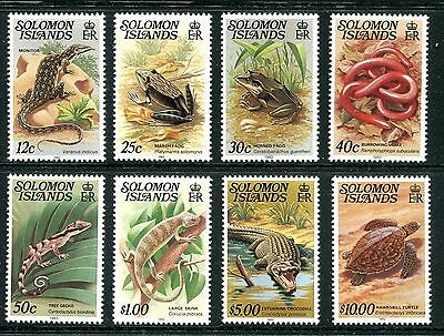 Solomon Islands 1979-83  Reptiles set of 8 with Imprint date at foot MNH
