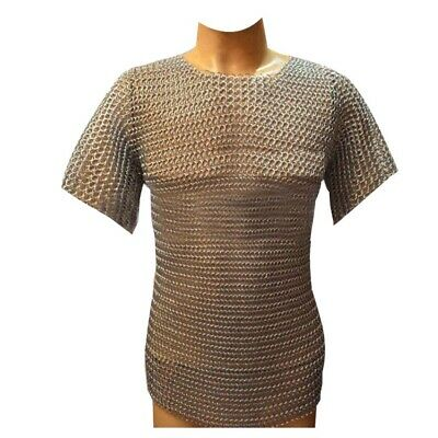 Butted Chain Mail Shirt Aluminium Hauberk LARP SCA Silver Anodizing