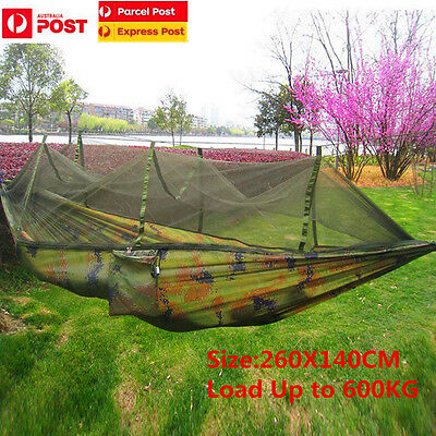 Outdoor Jungle Camouflage Military Hammock Hiking Hanging Bed With Mosquito Net