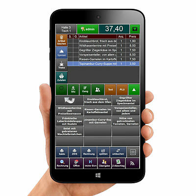 Kassensoftware Pos Promax Mobile Für Tablet Windows Pc Gdpdu Blitzkasse