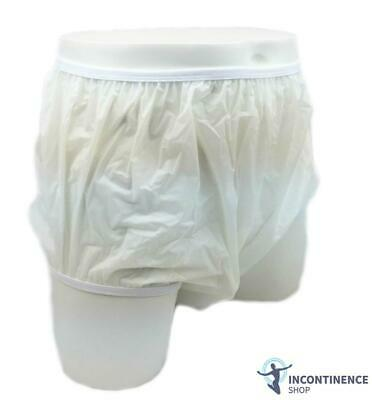 Drylife Waterproof Plastic Pants - Milky White - X-Large - Incontinence Aid