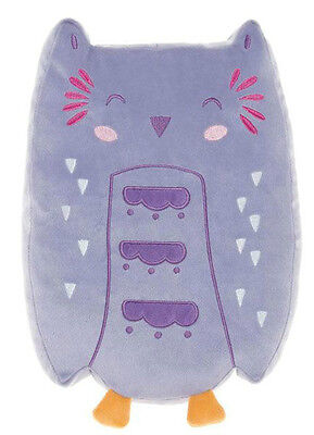 """Orla Owl"" Hiccups Cushion Novelty Toy- Childrens Baby Decor Bedroom Nursery"