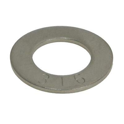 """Qty 100 Flat Washer 5/16"""" x 3/4 x 18g Marine Grade Stainless Steel SS 316 A4"""