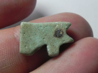 Zurqieh -Q181- Ancient Egypt , Faience Eye Of Horus Amulet. 1075 - 600 B.c