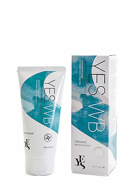 YES WB Water Based Organic Lubricant Lube Vaginal Dryness Moisturiser 100ml