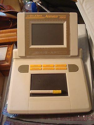 Vintage Etch A Sketch Animator 2000 By Ohio Art Rare 1980's WORKING! + MANUAL