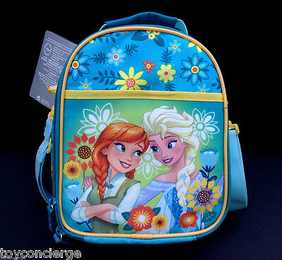 DISNEY Store LUNCH Box ANNA and ELSA Tote FROZEN Princess School 2016 NWT