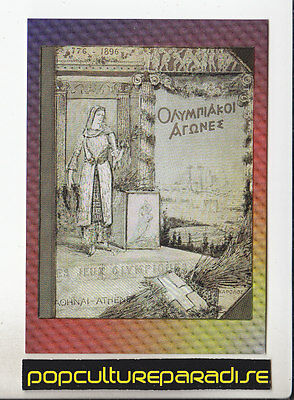 OLYMPIC GAMES POSTER INSERT CARD #P-1 1995 Centennial 1896 ATHENS