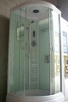 NEW COMPLETE SHOWER SCREEN ENCLOSURE CUBICLE - 6132W (900 x 900mm)