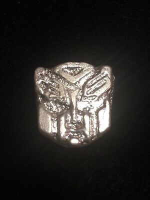 Hand Poured Autobot Transformer .999 Silver 1.66 oz BumbleBee