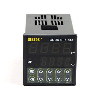 24VAC DIN Digital Counter  Relay Out CE  C2S-R-24