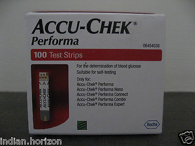 Accu Chek Performa 1 Pack of 100 Test Strips - Expiry 31 January 2018