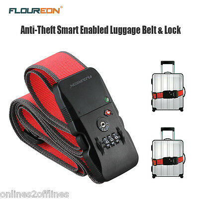 Bluetooth Anti-theft Luggage Suitcase Travel Baggage Combination Tie Strap Lock