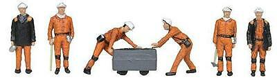 BACHMANN SCENECRAFT 36-400 1:76 00 SCALE  1960/70s Coal Miners Pack of 6