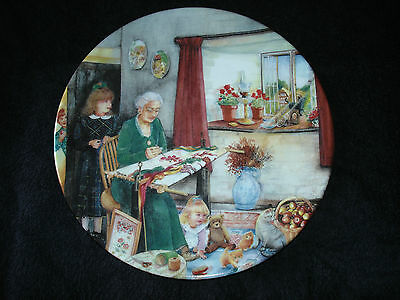 Royal Doulton - Old Country Crafts - The Embroideress - Collector Plate
