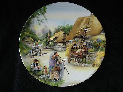 Royal Doulton - Old Country Crafts - The Thatcher - Collector Plate