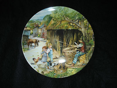 Royal Doulton - Old Country Crafts - The Basket Maker - Collector Plate