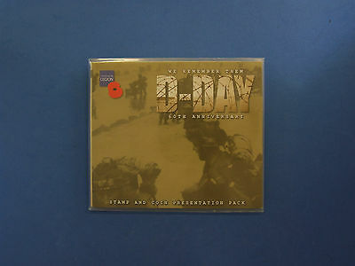 "2004 Guernsey Royal Mint £5 Crown & Stamps ""D-Day 60th"" in folder (A1/24)"