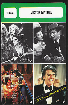 VICTOR MATURE Movie Star FRENCH BIOGRAPHY PHOTO CARD